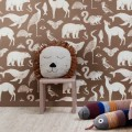 Poduszka Safari Lion Natural - Lew - ferm Living