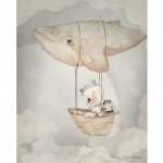 FLYING WHALE 40x50cm - Mrs Mighetto