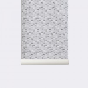 Tapeta Vivid Grey - szara - ferm Living
