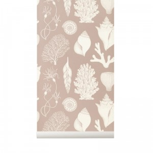 Tapeta Muszle - Shells Dusty Rose - Katie Scott - ferm Living