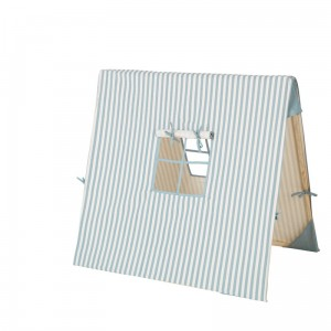 82e65bc9dbe9a Namiot w cienkie paski niebieskie - 100x100 cm - ferm living