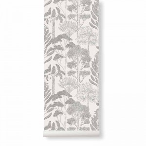 Tapeta Drzewa - Trees Off-White - Katie Scott - ferm Living