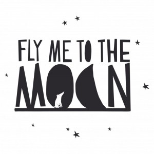Naklejka FLY ME TO THE MOON - Mimi'lou