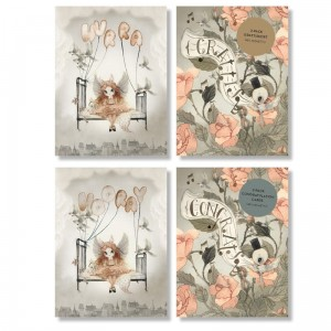 Kartki 2szt. - CONGRATULATION CARDS ROSES  - 2-PACK A6  - Mrs Mighetto