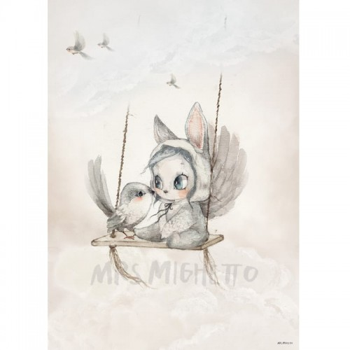 Plakat Mini Bird Master - Mrs Mighetto 50 x 70 cm.jpg