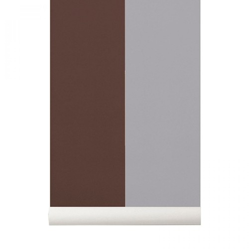 Tapeta Thick Lines - Bordeaux/Grey - ferm Living
